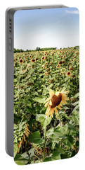 Portable Battery Charger featuring the photograph Sunflower Field by Alexey Stiop