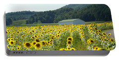 Sunflower Field Portable Battery Charger by Annlynn Ward