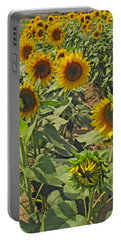 Sunflower Field Two Portable Battery Charger