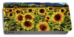 Sunflower Field Van Gogh Portable Battery Charger