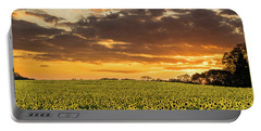 Sunflower Fields Sunset Portable Battery Charger