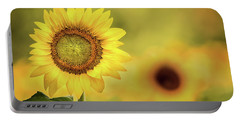 Sunflower In A Field Portable Battery Charger