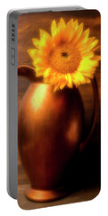 Sunflower In Copper Vase Portable Battery Charger