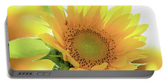 Sunflower In Golden Glow Portable Battery Charger