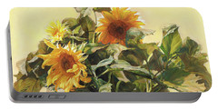 Sunflower In Love - Good Morning America Portable Battery Charger