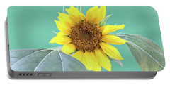 Sunflower In The Summer Time Portable Battery Charger