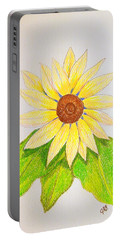 Sunflower Portable Battery Charger by J R Seymour