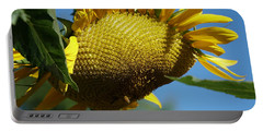 Sunflower, Mammoth With Bees Portable Battery Charger