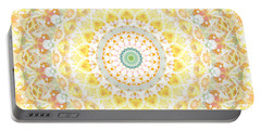 Sunflower Mandala- Abstract Art By Linda Woods Portable Battery Charger