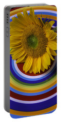 Sunflower On Circle Plate Portable Battery Charger