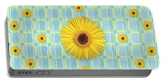 Sunflower Pattern Portable Battery Charger