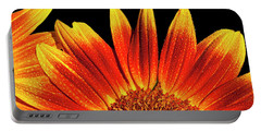 Sunflower Raindrops Portable Battery Charger