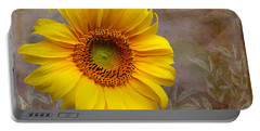Sunflower Serenade Portable Battery Charger by Nina Silver