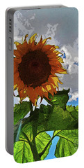 Sunflower Staring You In The Eye Portable Battery Charger