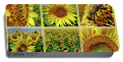 Sunflower Story - Collage Portable Battery Charger