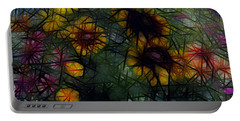 Sunflower Streaks Portable Battery Charger by Carol Crisafi