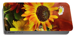 Sunflower Strong Portable Battery Charger by Kathy Bassett
