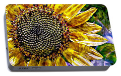 Portable Battery Charger featuring the photograph Sunflower Study by Suzanne Stout