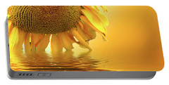 Sunflower Sunset Portable Battery Charger by David French