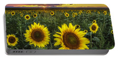 Sunflower Sunset Portable Battery Charger by Kristal Kraft