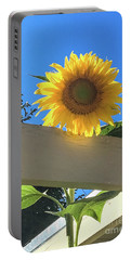 Sunflower Portable Battery Charger by Suzanne Luft