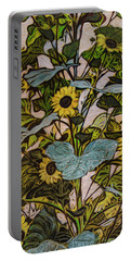 Sunflower Tower Portable Battery Charger by Ron Richard Baviello