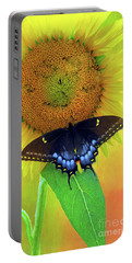 Portable Battery Charger featuring the photograph Sunflower With Company by Marion Johnson