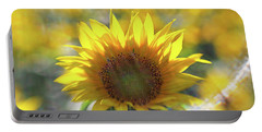 Sunflower With Lens Flare Portable Battery Charger