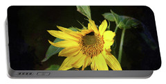 Portable Battery Charger featuring the photograph Sunflower With Texture by Trina Ansel