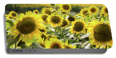 Portable Battery Charger featuring the photograph Sunflowers 13 by Andrea Anderegg