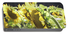 Portable Battery Charger featuring the photograph Sunflowers 4 by Andrea Anderegg