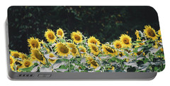Portable Battery Charger featuring the photograph Sunflowers 7 by Andrea Anderegg