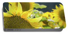 Portable Battery Charger featuring the photograph  Sunflowers 8 by Andrea Anderegg