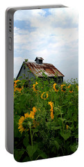 Sunflowers Along Rt 6 Portable Battery Charger
