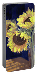 Sunflowers And Light Portable Battery Charger