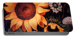 Sunflowers And More Sunflowers Portable Battery Charger