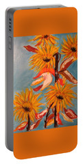 Sunflowers At Harvest Portable Battery Charger by Sharyn Winters