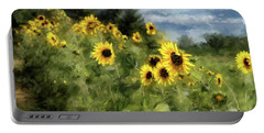 Sunflowers Bowing And Waving Portable Battery Charger