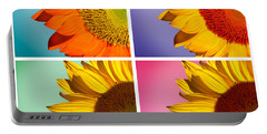 Sunflowers Collage Portable Battery Charger by Mark Ashkenazi