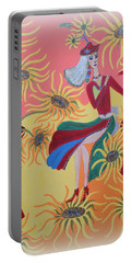 Sunflower's Contessa  Portable Battery Charger by Marie Schwarzer
