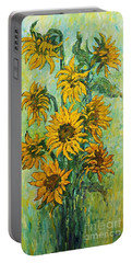Sunflowers For This Summer Portable Battery Charger
