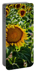 Sunflowers Glaze Portable Battery Charger