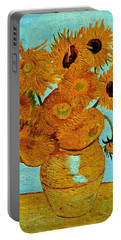 Sunflowers Portable Battery Charger by Henryk Gorecki