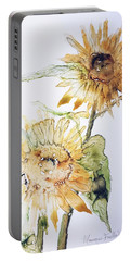 Sunflowers II Uncropped Portable Battery Charger