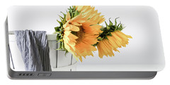 Portable Battery Charger featuring the photograph Sunflowers In A Basket by Kim Hojnacki