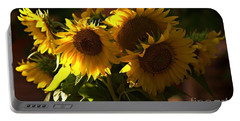 Sunflowers In A Vase Portable Battery Charger