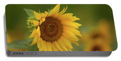 Sunflowers In Field Portable Battery Charger