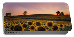 Sunflowers In Pink Portable Battery Charger