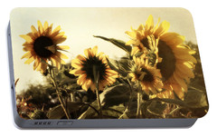 Portable Battery Charger featuring the photograph Sunflowers In Tone by Glenn McCarthy Art and Photography