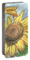 Portable Battery Charger featuring the painting Sunflowers by Jacqueline Athmann